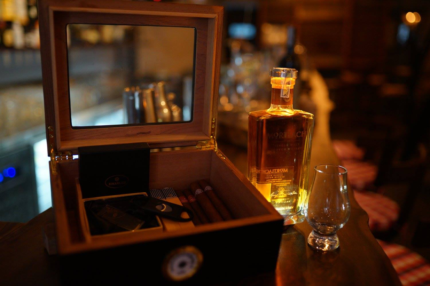 Sip App | The Alley cigar and whiskey