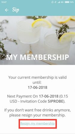 The sip app update membership first step